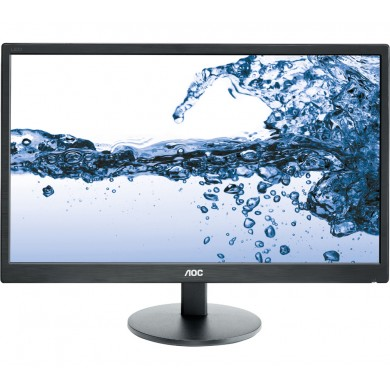 "21.5"" AOC LED E2270SWHN Black (5ms, 20M:1, 200cd, 1920x1080, 90°/65°, VGA, HDMI, Audio Line-out, VESA)"