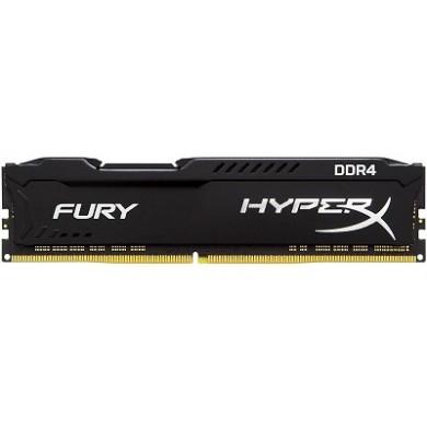 16GB DDR4-2400  Kingston HyperX® FURY DDR4, PC19200, CL15, 1.2V, Auto-overclocking, Asymmetric BLACK heat spreader, Intel XMP Ready  (Extreme Memory Profiles)