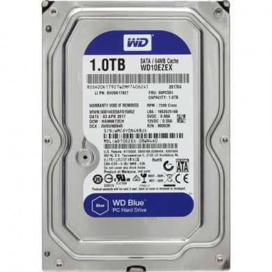 """3.5"""" HDD 1.0TB  Western Digital WD10EZRZ Caviar® Blue™, 5400rpm, 64Mb, SATAIII"""