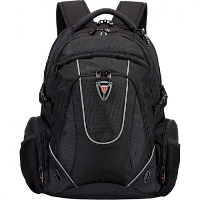 "15.6"" NB Backpack - SUMDEX RED (S) ""Universal Swiss Army Knife"", Black, Main Compartment: 38 x 27.5 x 4 cm, Dimensions: 30 x 48 x 24 cm"