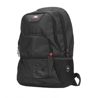 "15.6"" NB Backpack - SUMDEX RED (S) ""City"", Black, Main Compartment: 38 x 28 x 4 cm, Dimensions: 41 x 33 x 16 cm"