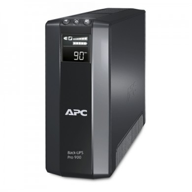 APC Back-UPS Pro BR900G-RS, 900VA/540W, AVR, 5 x CEE 7/7 Schuko (3 Battery Backup, all 5 Surge Protected), RJ-11/ RJ-45 Data Line Protection, LCD Display