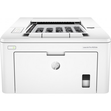 Printer HP LaserJet Pro M203dn, White,  A4, 1200 dpi, up to 28 ppm, 256MB, Duplex, Up to 30000 pages/month, USB 2.0, Ether 10/100, PCL5c, PCL6, Postscript, HP ePrint, Apple AirPrint™, CF230A/X Cartridge (~1600/3500 pages) Starter ~1000pages