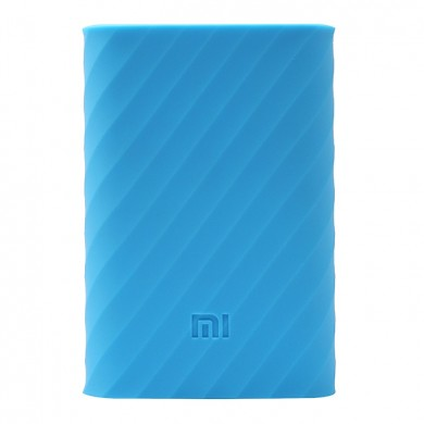 Silicone Protective Case Cover for Xiaomi Mi Power Bank 10000 mAh, Blue
