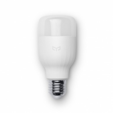 "XIAOMI ""Yeelight Smart LED Bulb E27"", White, Color Temperature 4000K, Rated power 8W, 600 lumens, 25,000 hours, Beam angle 360°, Remote control via Wifi, Adjust brightness"