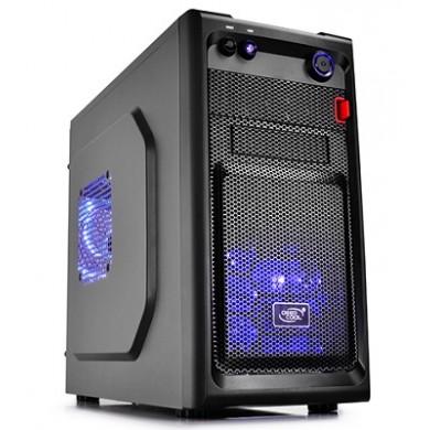 Carcasa DEEPCOOL SMARTER LED / w/oPSU / 2x 120mm Blue LED fan / mATX / Black
