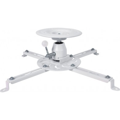 Sunne PRO300S Ceiling/ Bevel Projector Bracket, Ceiling to Projector 135mm, Tilt/Swivel-20°~+20°,  360 rotate max 25kg, universal mounting pattern up to 500mm width, White