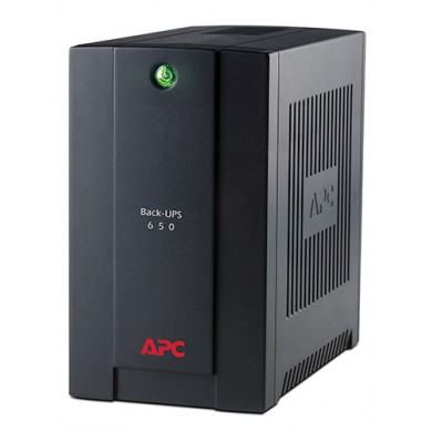 APC Back-UPS BC650-RSX761, 650VA/360W, 4 x CEE 7/7 Schuko (3 Battery Backup, all 4 Surge Protected), LED indicators