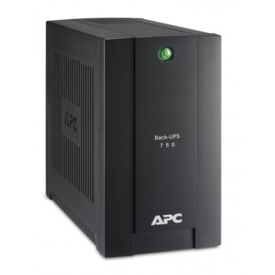 APC Back-UPS BC750-RS, 750VA/415W, 4 x CEE 7/7 Schuko (3 Battery Backup, all 4 Surge Protected), LED indicators, PowerChute USB Port