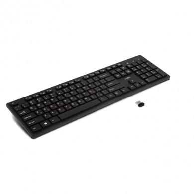SVEN KB-E5900W, Wireless Keyboard, 107 keys, slim compact design, low-profile keys with smooth stroke, Nano receiver, USB, Black