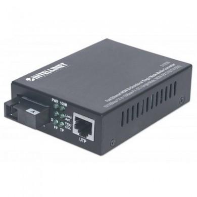 Gigabit Ethernet Media Converter WDM (1x10/100/1000 Base-TX , 1x1000Base- FX), 10km, 1550/1310 nm, DC 48V