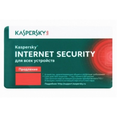 Renewal - Kaspersky Internet Security Multi-Device - 2 devices, 12 months, Card