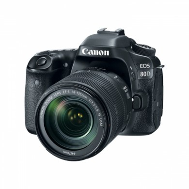 DSLR Camera CANON EOS 80D + 18-135 IS nano USM (1263C040)