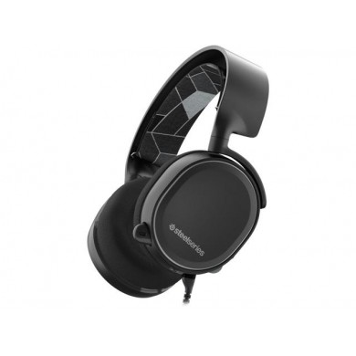 STEELSERIES Arctis 3 / Gaming Headset with retractable Best Mic in Gaming, ClearCast,  7.1 Surround Sound, 40mm neodymium drivers, Compatibility (PC/Mac/PS/Xbox/VR/Mobile), Cable lenght 3.0m, 3.5mm jack, Black