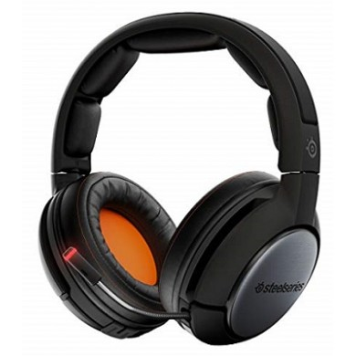 STEELSERIES Siberia 840 / Lag-Free Wireless Gaming Headset with retractable Best Mic in Gaming, Dolby 7.1 Surround, 40mm neodymium drivers, OLED Transmitter, Hot Swappable battery system, Bluetooth, Wireless USB+2x3.5mm jack+mini USB, Black
