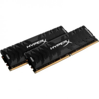 16GB (Kit of 2*8GB) DDR4-2666  Kingston HyperX® Predator DDR4, PC21300, CL13, 1.35V, Asymmetric BLACK low-profile heat spreader, Intel XMP Ready  (Extreme Memory Profiles)