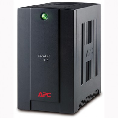 APC Back-UPS BX700U-GR, 700VA/390W, AVR, 4 x CEE 7/7 Schuko (3 Battery Backup, all 4 Surge Protected), LED indicators, PowerChute USB Port
