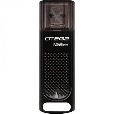 128GB USB3.1  Kingston DataTraveler Elite G2 Black, Durable zinc alloy die-cast metal casing is shock and water-resistant, LED indicator, (Read 180 MByte/s, Write 70 MByte/s)