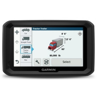 "GARMIN dezl 580LMT-D Truck Navigator, Licence map Europe + Moldova, 5.0"" LCD (480*272), 16GB, MicroSD, 3D junction view/Attraction, Customized Truck Routing, Truck-specific POIs and Services, IFTA, Up Ahead, Hours of Service, up to 2 hours, 234g"