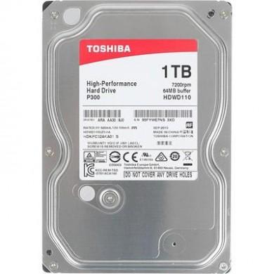 "3.5"" HDD 1.0TB  Toshiba HDWD110UZSVA  P300,  Desktop™, 7200rpm, 64MB, SATAIII"