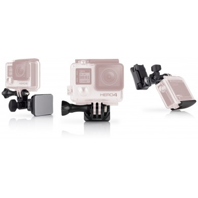 GoPro Helmet Front + Side Mount -to attach GoPro to the front or side of helmets, compatible with HERO7 Black, HERO6 Black, HERO5 Black, HERO5 Session, HERO Session, HERO4 Black, HERO4 Silver