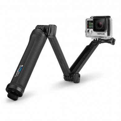 GoPro 3-Way -3-in-1 mount can be used as a camera grip, extension arm or tripod, compatible with HERO7 Black, HERO6 Black, HERO5 Black, HERO5 Session, HERO Session, HERO4 Black, HERO4 Silver, HERO+ LCD, HERO+, HERO