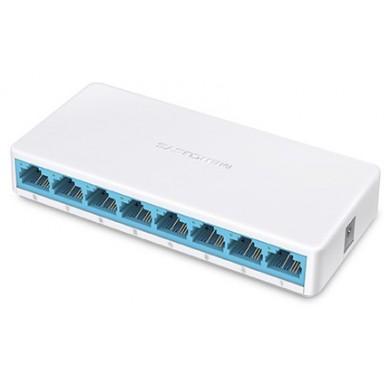 MERCUSYS MS108  8-port Desktop Switch, 8 10/100M RJ45 ports, Plastic case