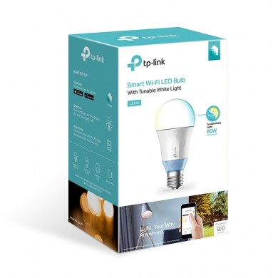 TP-LINK LB120, Smart Wi-Fi LED Bulb E27 with Tunable White Light, White, Color Temperature 2700K—6500K, Rated power 11W, 800 lumens, 25,000 hours, Beam angle 270°, Remote control via Wifi, Adjust brightness