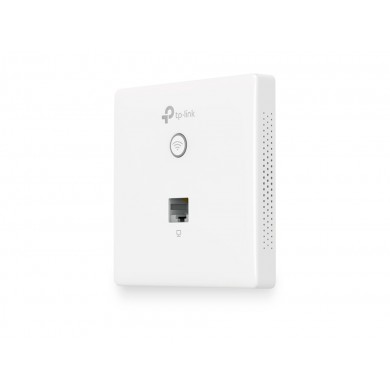 TP-LINK Auranet EAP115-Wall  N300 Wireless Wall-Plate Access Point, 300Mbps 2.4GHz, 802.11n/g/b, 1 Lan, PoE Supported, Multi-SSID, with 2*1.8dbi internal antennas, Captive portal, Reboot Schedule, Rate limit on per SSID, FAT/FIT