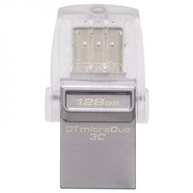 128GB USB3.1  Kingston DataTraveler MicroDuo, Ultra-small, USB OTG Type C (On-The-Go), (Read 100 MByte/s, Write 15 MByte/s)