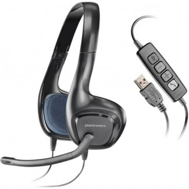 Plantronics Audio 628, Microphone noise-canceling, Speaker Driver Size 40mm, Receive output from 20 Hz–20 kHz, Microphone 100 Hz–10 kHz, USB