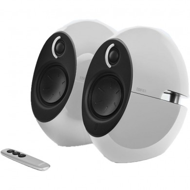 "Edifier E25HD White, 2.0/ 74W (2x37W) RMS, Audio in: Bluetooth 4.0, auxiliary, optical, remote control, satl.(3""+3/4"")"