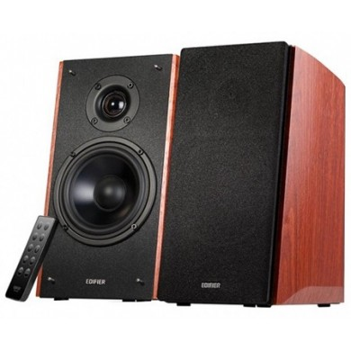 "Edifier R2000DB Brown, 2.0/ 120W (2x36W+2x24W) RMS, Audio In: Bluetooth, RCA x2, PC, AUX, optical, coaxial, remote control, all wooden, (5""+1"")"