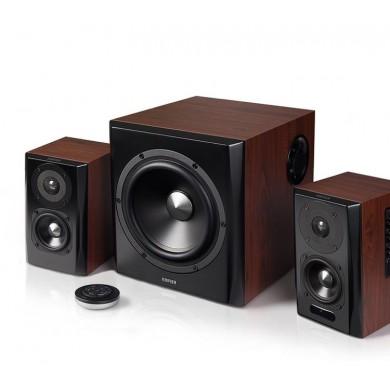 Edifier S350DB Brown, 2.1/ 150W (70W+ 2x40W) RMS, Audio In: Bluetooth 4.1 aptX Wireless Sound, RCA x2, PC, AUX, optical, coaxial, remote control, all wooden, (sub.8