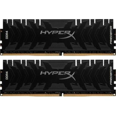 32GB (Kit of 2*16GB) DDR4-2666  Kingston HyperX® Predator DDR4, PC21300, CL13, 1.35V, Asymmetric BLACK low-profile heat spreader, Intel XMP Ready (Extreme Memory Profiles)