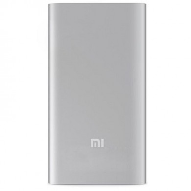 5000mAh Power Bank - Xiaomi Mi Power Bank 5K,  Silver, Power capacity - 5000mAh, I/O: 1xUSB 5V/2.1A, Aluminum housing with an integrated battery, 9 protective layers, Technology from LG and Samsung.
