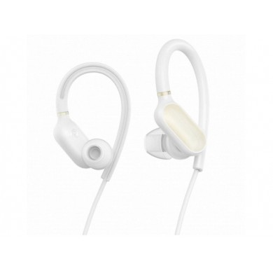 """Xiaomi """"Mi Sport Bluetooth Earbuds"""" EU (stereo), White, Bluetooth 4.1, 7h play time, Standby 280hrs, Communication distance 10m, IPX4 waterproof, sweat resistant and durable, With ear-hook, anti-drop,  Song Switching, Sweatproof, Voice control"""