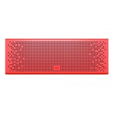 "Xiaomi ""Mi Bluetooth Speaker"" EU, Portable Bluetooth Speaker, Red, 6W (2x3W) RMS, BT4.0, AUX, Microphone, Rechargeable Battery: 1500mAh, Battery Life: 8 hours, Support A2DP/AVRCP/HSP/HEP, Passive bass radiator, Full aluminium body"