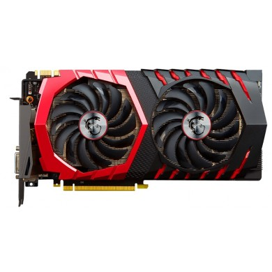 MSI GeForce GTX 1070 GAMING X 8G /  8GB DDR5 256Bit 1797/8108Mhz (OC Mode), DVI, HDMI, 3x DisplayPort, Dual fan - TWIN FROZR VI (Zero Frozr/Airflow Control Technology), TORX 2.0 FAN, Gaming App, Retail