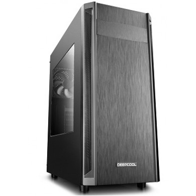"DEEPCOOL ""D-SHIELD V2"" ATX Case, with Side-Window, without PSU, 1x120mm rear fan, Bottom mounted PSU, Optimized space contracted design, VGA Compatibility: 370mm, 1xUSB3.0, 2xUSB2.0 /Audio, Black"