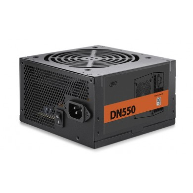 "PSU DEEPCOOL ""DN550 New version"", 550W, ATX 2.31, 80 PLUS®, Active PFC, 120mm fan with PWM,  +12V (42A), 20+4 Pin, 1xEPS(4+4Pin), 5x SATA, 2xPCI-E(6+2pin), 3x Peripheral, MTBF100000Hours, CircuitShield™, Black"