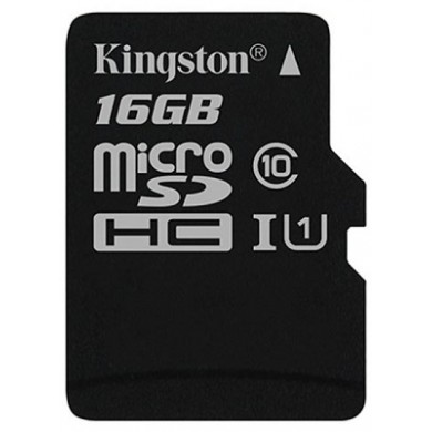 16GB microSD Class10 UHS-I  Kingston Canvas Select, 400x, Up to: 80MB/s