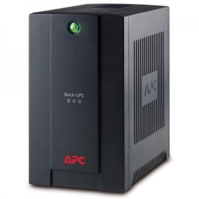APC Back-UPS BX800LI, 800VA/415W, AVR, 4 x IEC Sockets (all 4 Battery Backup + Surge Protected), LED indicators