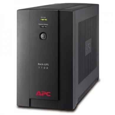 APC Back-UPS BX1100LI, 1100VA/550W, AVR, 6 x IEC Sockets (all 6 Battery Backup + Surge Protected), LED indicators