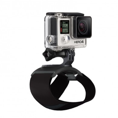 GoPro Hand + Wrist Strap - strap your GoPro to your hand or wrist to capture ultra immersive point-of-view footage, one-of-a-kind selfies and more, compatible with all GoPro cameras.