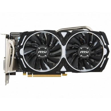 MSI Radeon RX 570 ARMOR 8G OC /  8GB GDDR5 256Bit 1268/7000Mhz, DVI-D, 2x HDMI, 2x DisplayPort, Dual fan - ARMOR 2X thermal design (Zero Frozr/Airflow Control Technology), TORX FAN, Gaming App, Retail