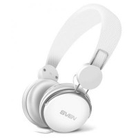 SVEN AP-321M White, Headphones with microphone, 3.5mm (4 pin) stereo mini-jack, Microphone on the cable, Call acceptance/Pause button, Cable length: 1.2m