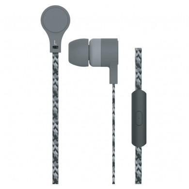 "MAXELL ""CORDZ"" Grey, Earphones with in-line Microphone, Hands free calling features, 3 sets of ear tips, Fabric braided cord, Cord type cable 1.2 m"