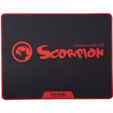 """MARVO """"G18"""", Gaming Mouse Pad, Dimensions: 450 x 350 x 4 mm, Material: rubber base + microfiber, Black"""