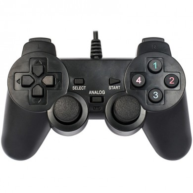 """MARVO """"GT-006"""", Vibration Game Pad, 15 buttons, 2 sticks, Soft sweat-resistant surface coating, PC Win 7,8,10 compatible, USB, Black"""